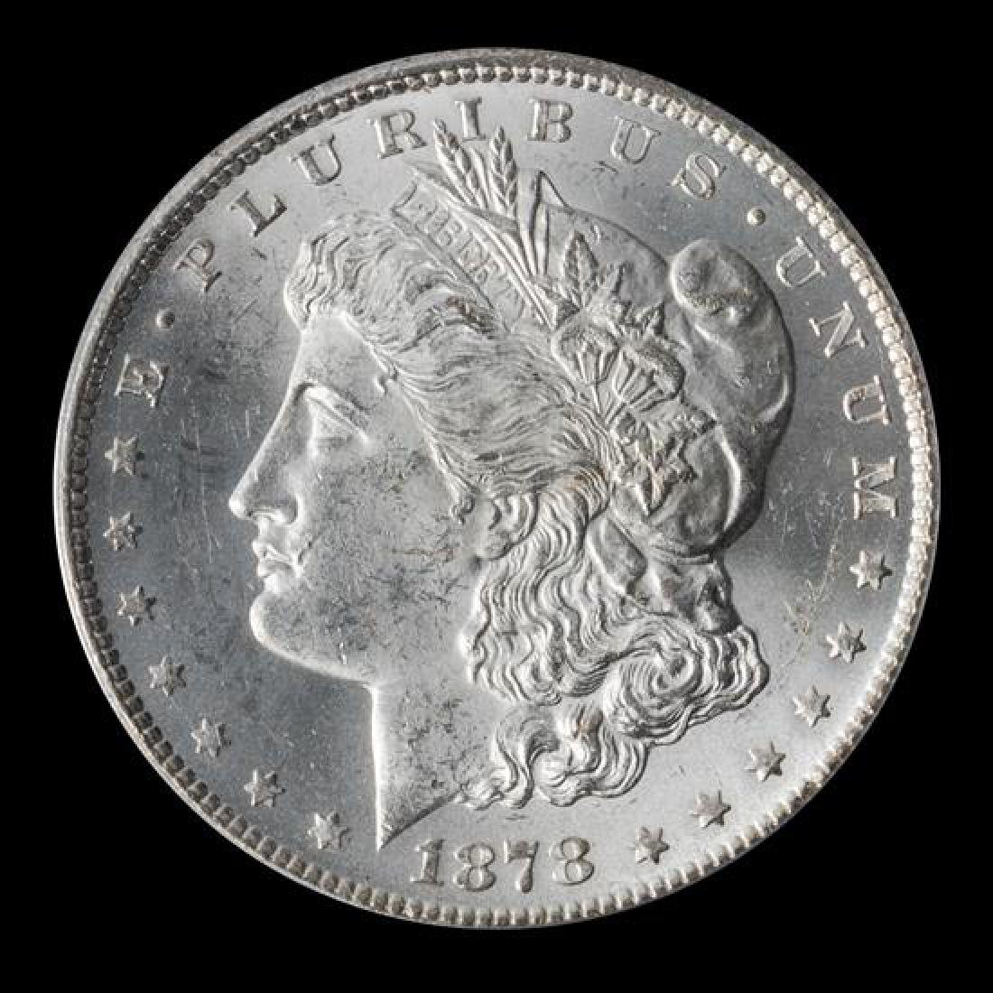 A United States 1878-CC Morgan Silver Dollar Coin