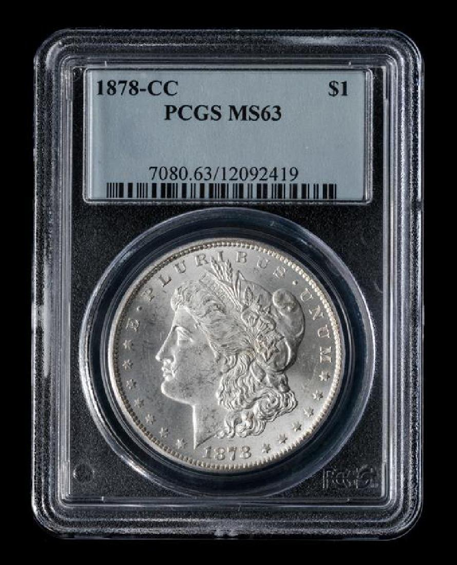 A United States 1878-CC Morgan Silver Dollar Coin - 3