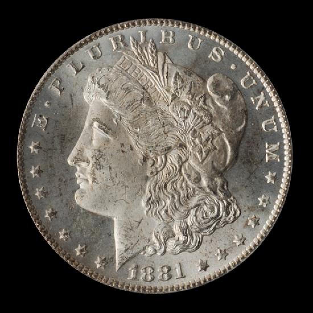 A United States 1881-CC Morgan Silver Dollar Coin
