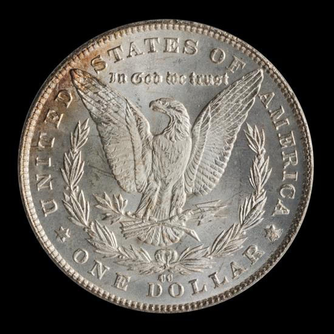 A United States 1881-CC Morgan Silver Dollar Coin - 2