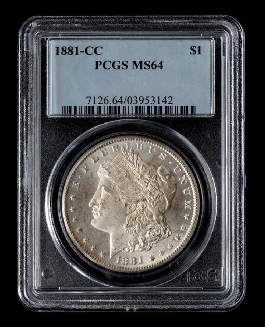 A United States 1881-CC Morgan Silver Dollar Coin - 3