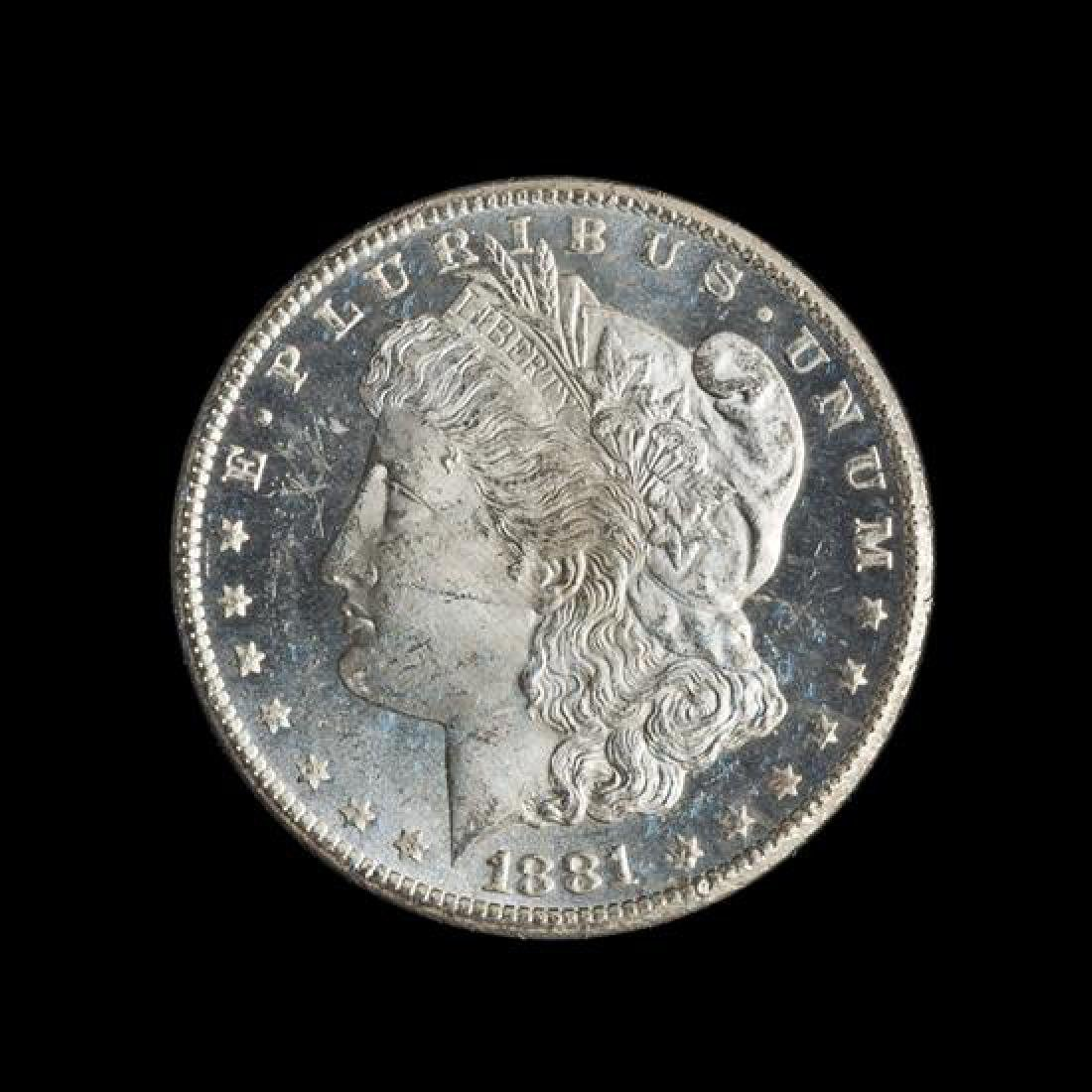 A United States 1881-CC GSA: Morgan Silver Dollar Coin