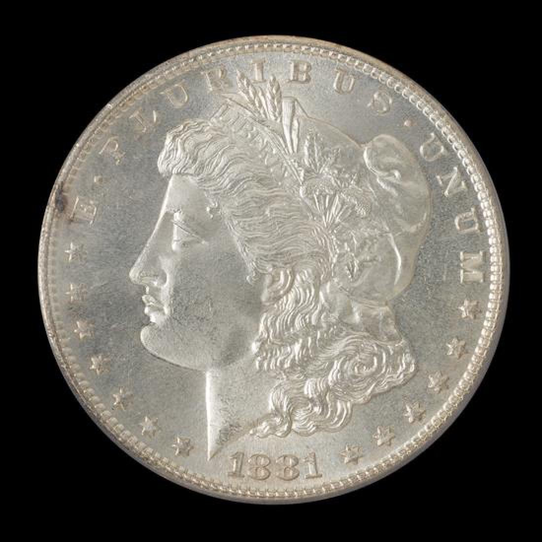 A United States 1881-S Morgan Silver Dollar Coin
