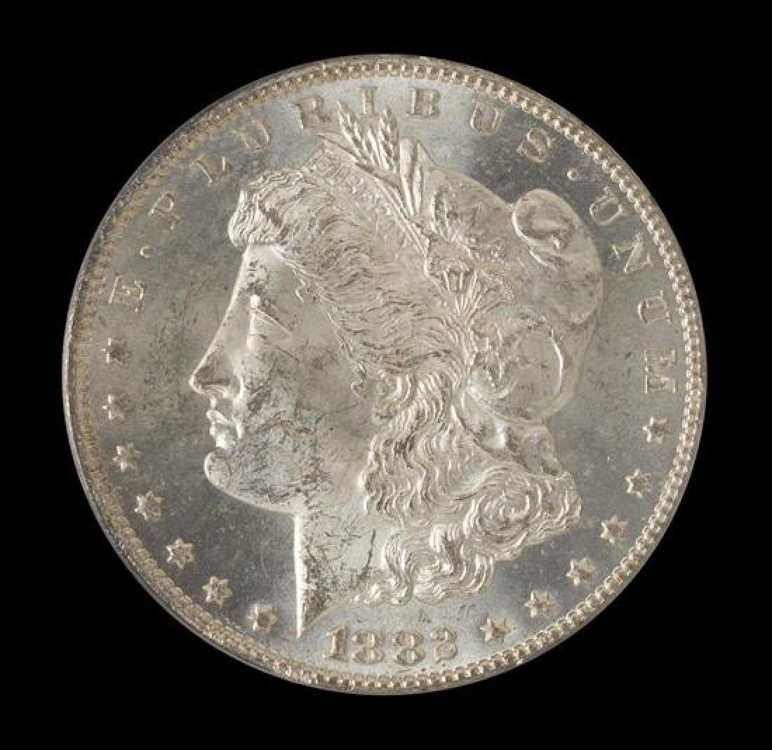 A United States 1882-CC Morgan Silver Dollar Coin