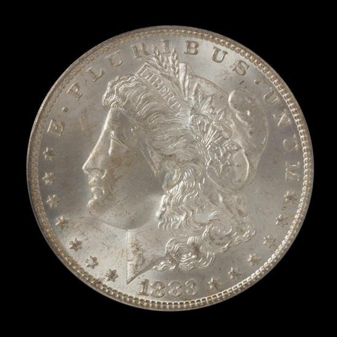 A United States 1883-CC Morgan Silver Dollar Coin