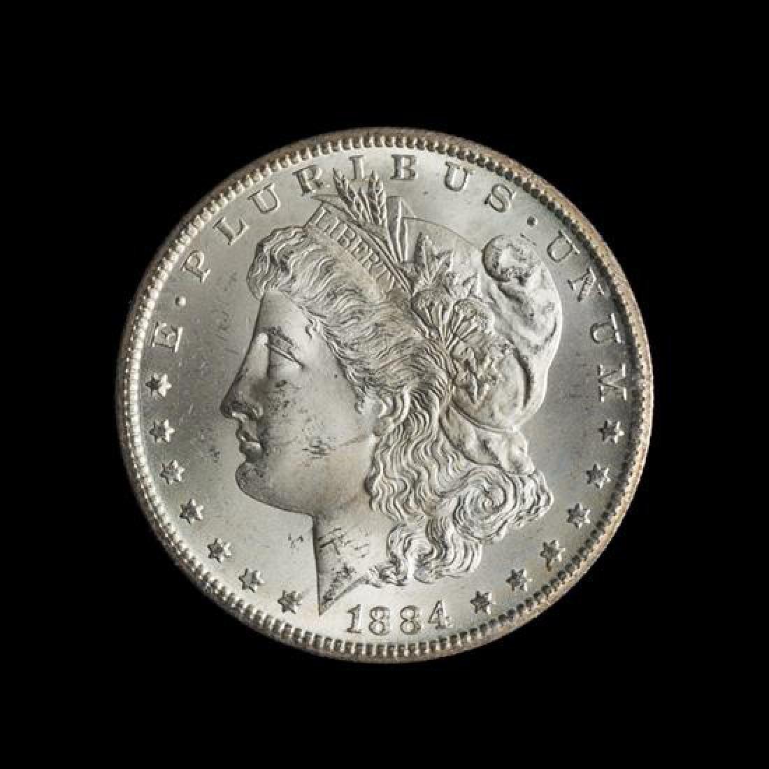 A United States 1884-CC GSA: Morgan Silver Dollar Coin