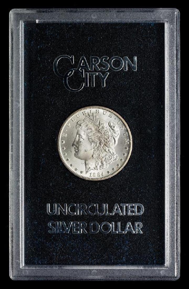 A United States 1884-CC GSA: Morgan Silver Dollar Coin - 3