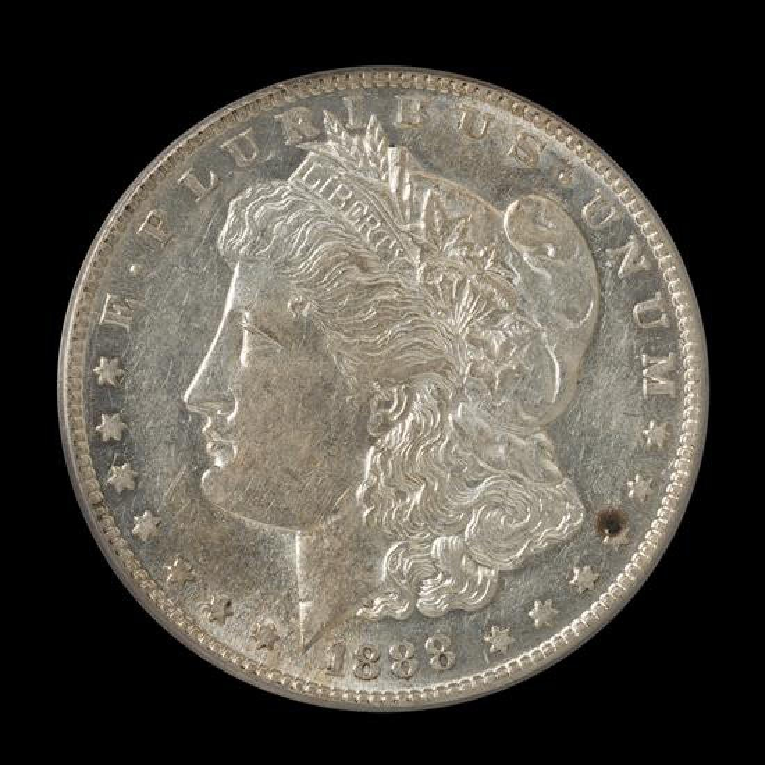 A United States 1888-S Morgan Silver Dollar Coin