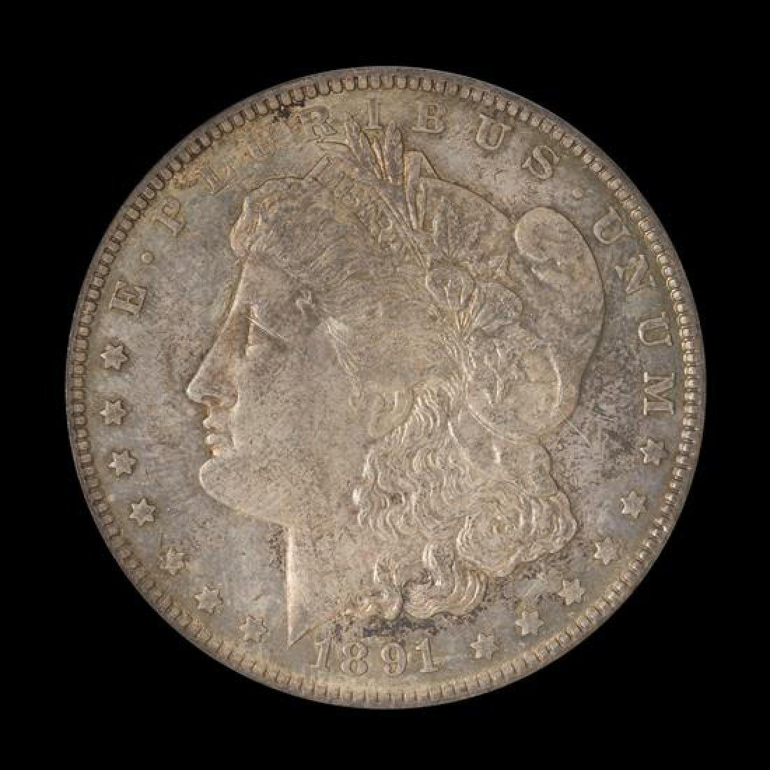A United States 1891-CC Morgan Silver Dollar Coin