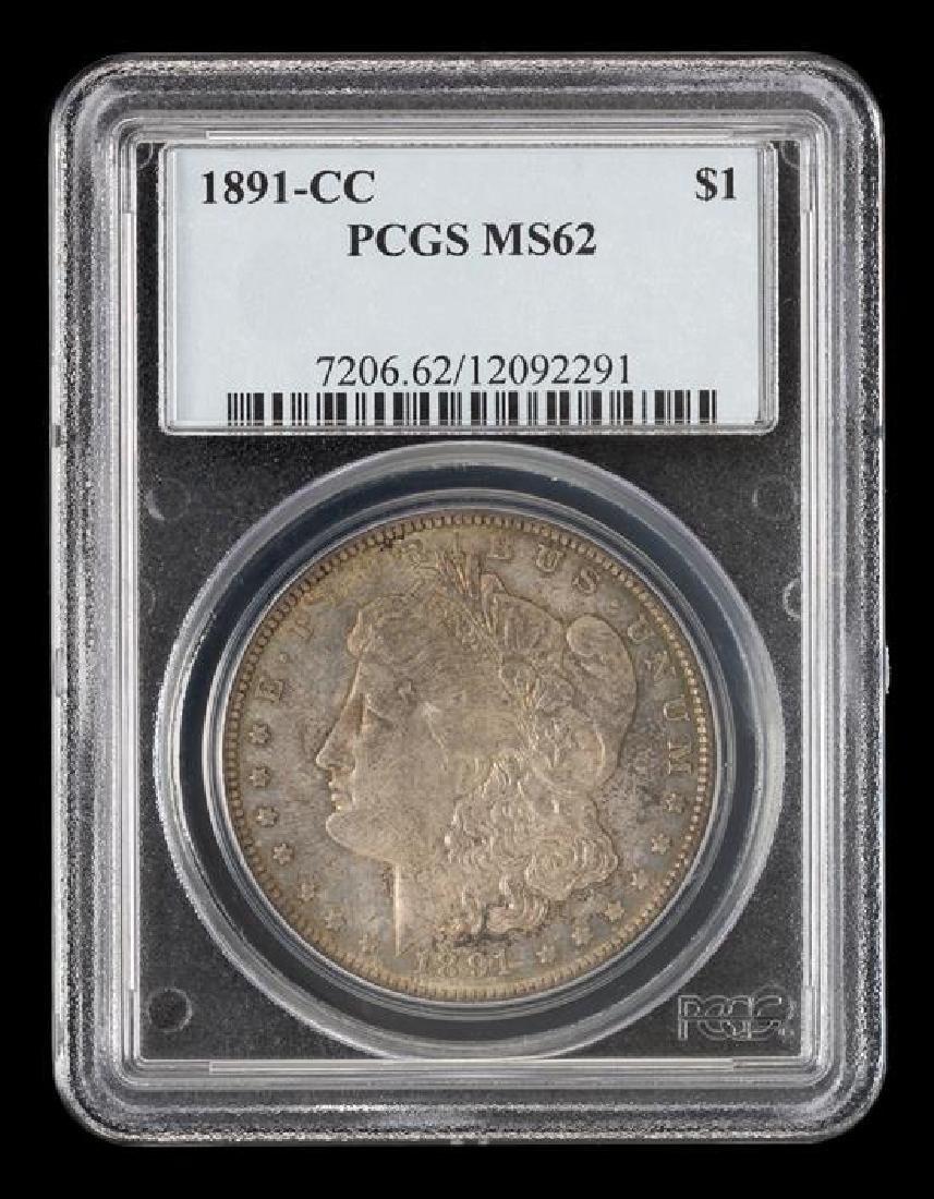 A United States 1891-CC Morgan Silver Dollar Coin - 3