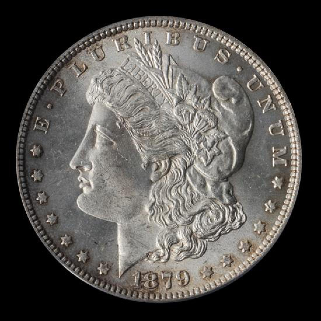 A United States 1879 Morgan Silver Dollar Coin