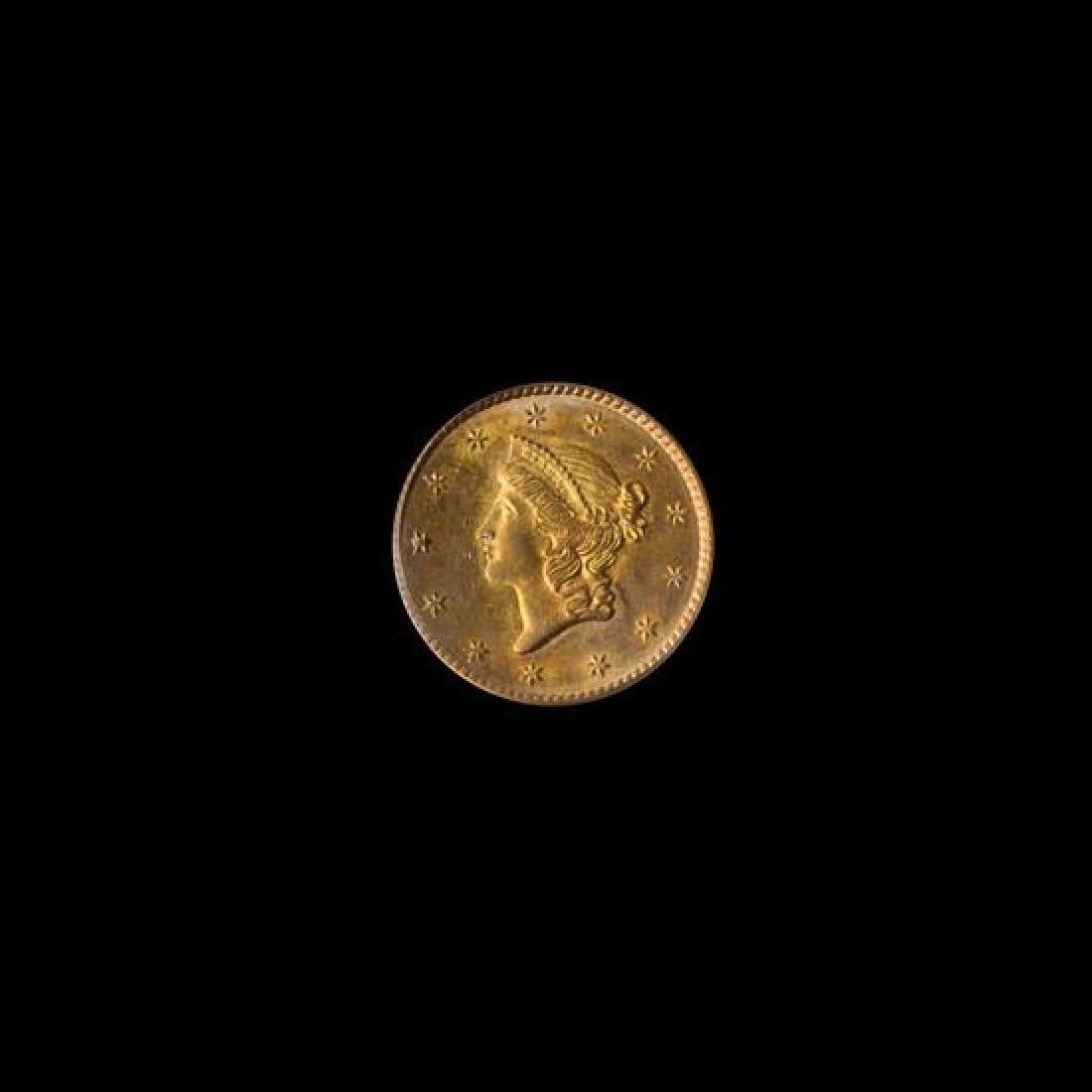 A United States 1851 Liberty Head $1 Gold Coin