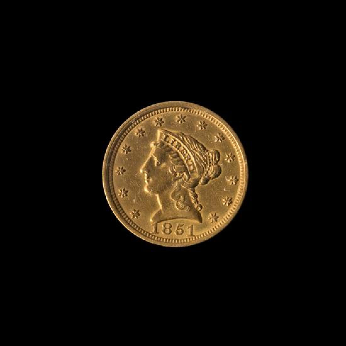 A United States 1851 Liberty Head $2.50 Gold Coin