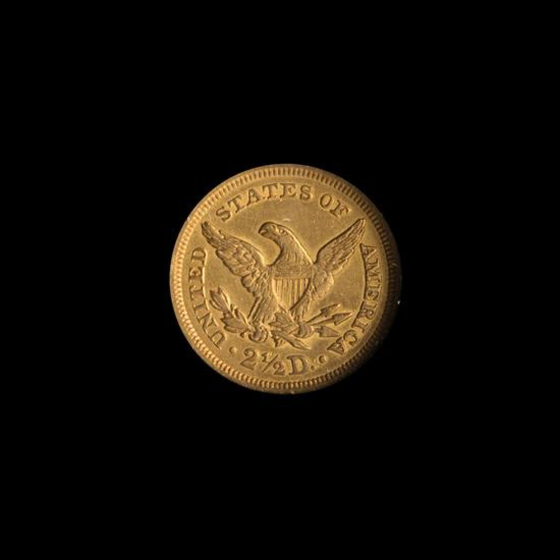A United States 1851 Liberty Head $2.50 Gold Coin - 2