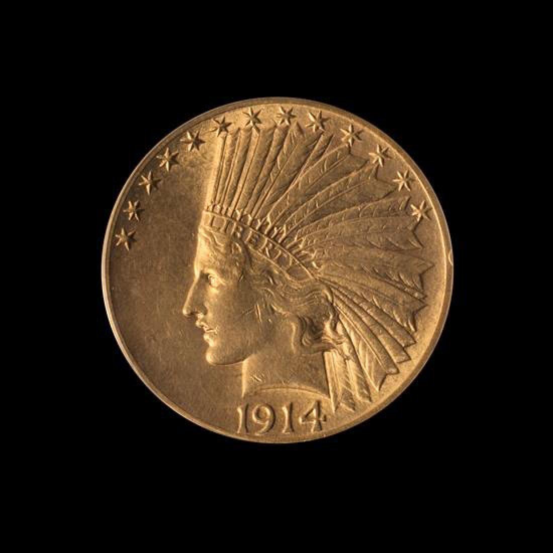 1914-D Indian Head $10 Gold Coin