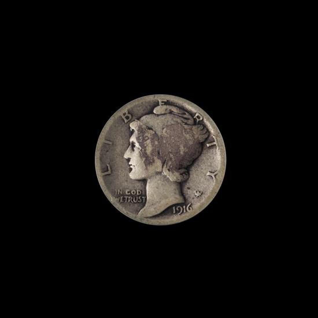 A United States 1916-D Mercury 10c Coin