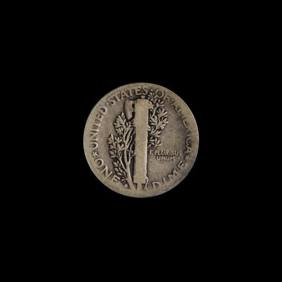 A United States 1916-D Mercury 10c Coin - 2