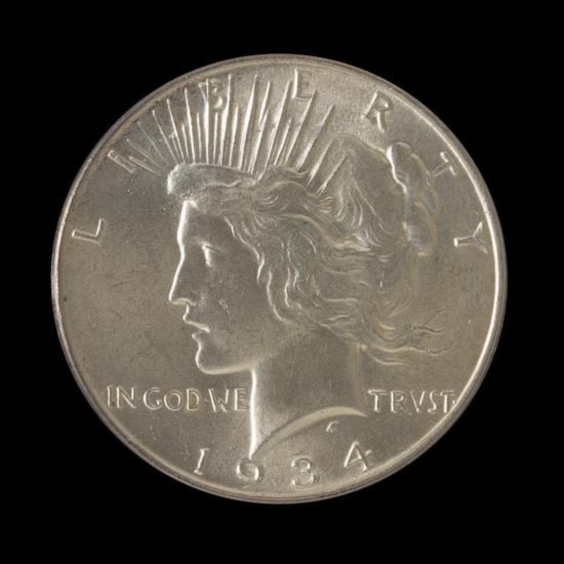 A United States 1934 Peace Silver Dollar Coin