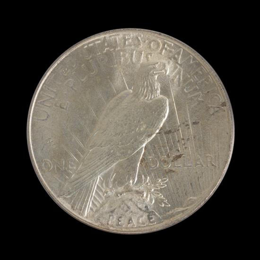 A United States 1934 Peace Silver Dollar Coin - 2