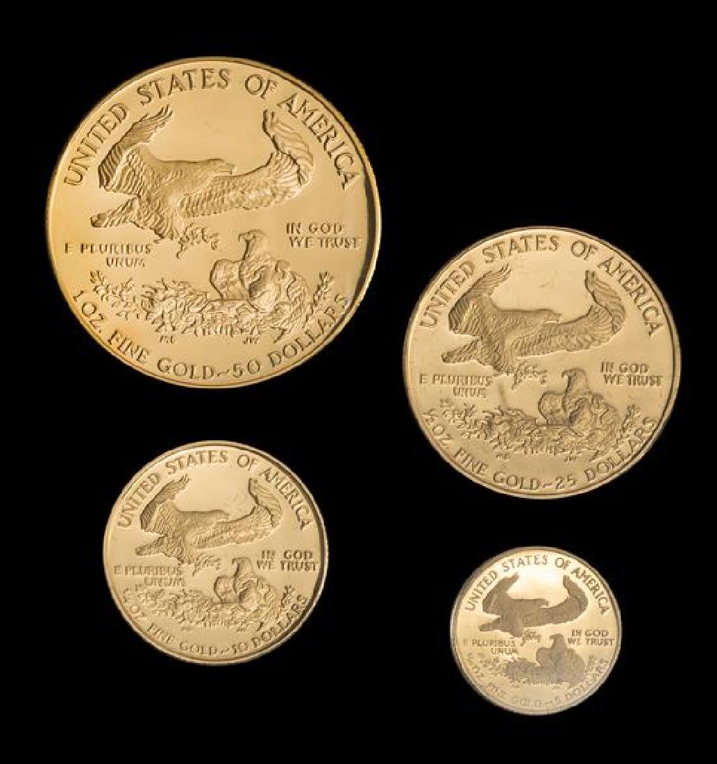 A United States 1989 Gold Eagle 4 Gold Coin Proof Set - 2