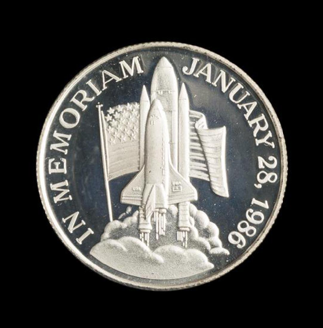 A 1986 Space Shuttle Challenger Memorial 1 oz. Silver