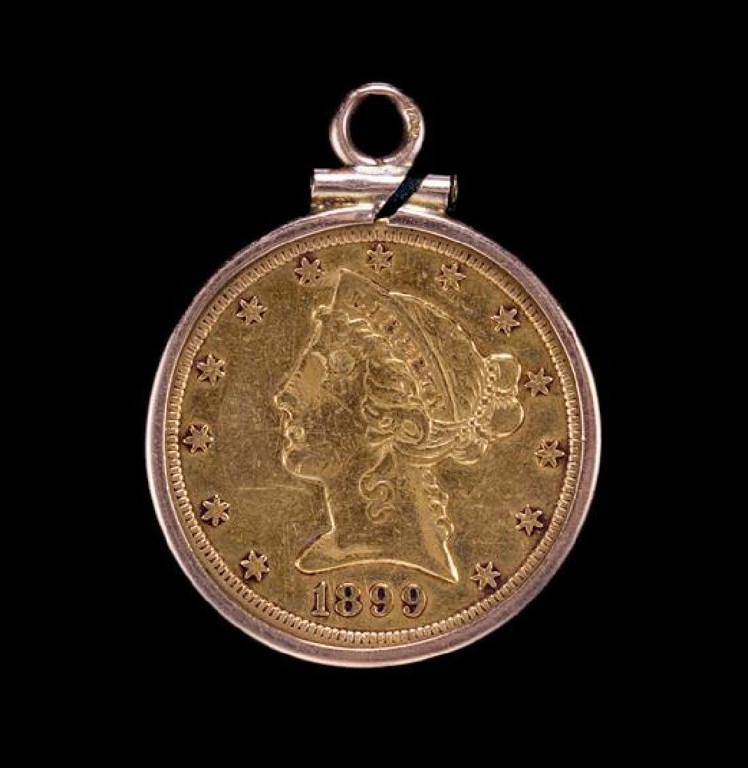 A United States 1899-S Liberty Head $5 Gold Coin