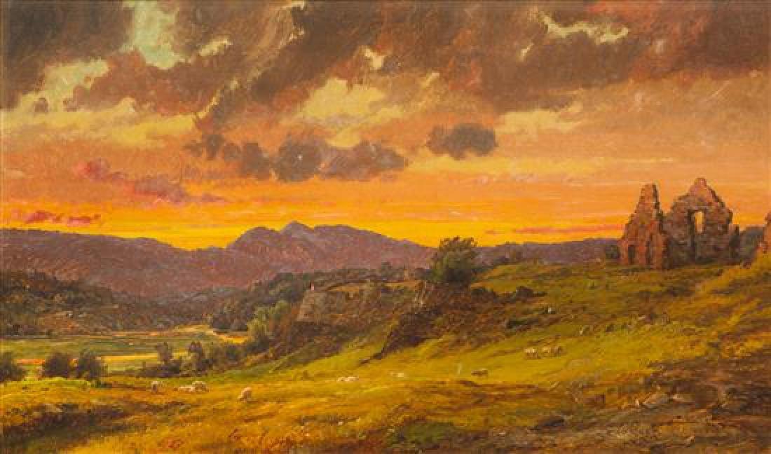 Jasper Francis Cropsey, (American, 1823–1900), Ruins at