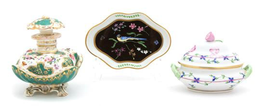 A Small Herend Porcelain Tureen Length of tureen 6