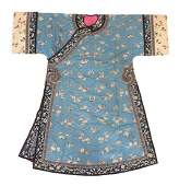 A Chinese Embroidered Silk Robe