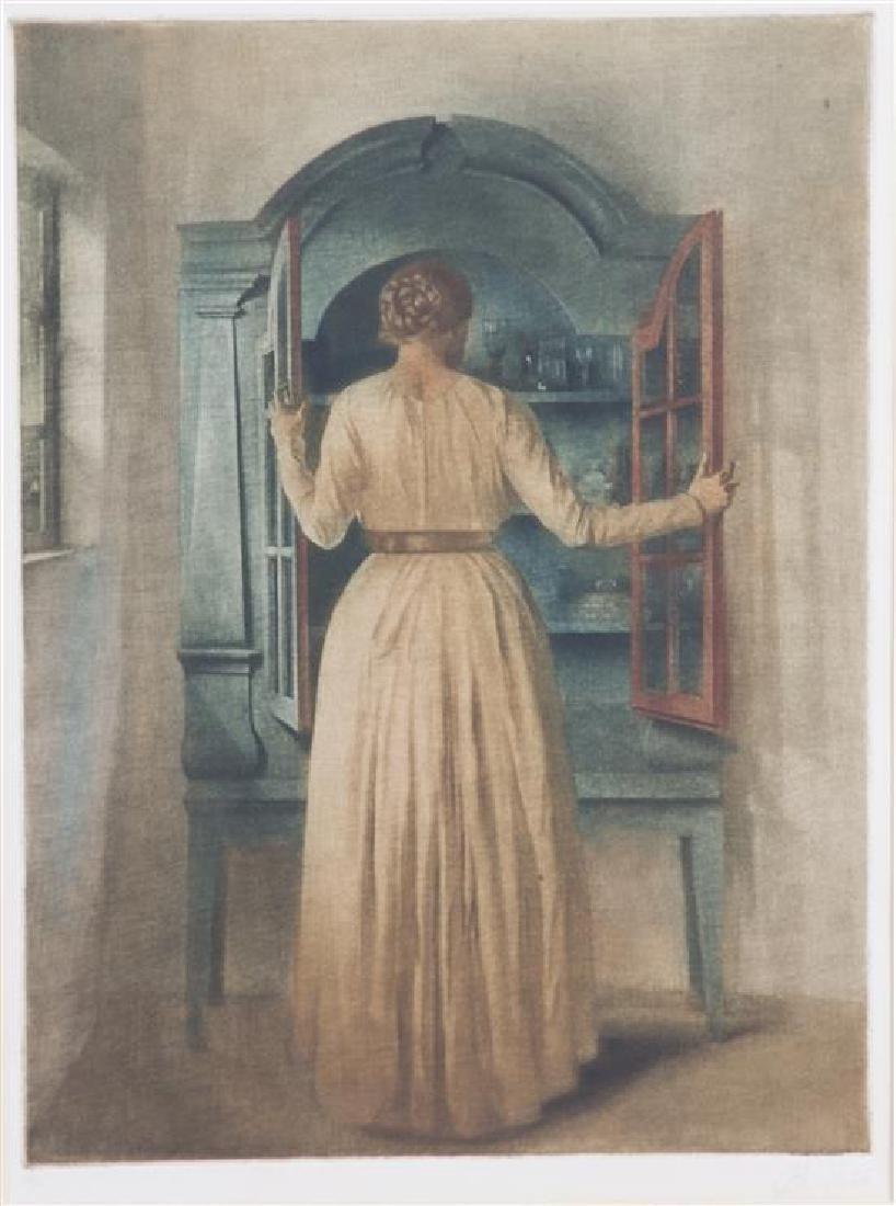 Peter Ilstedt, (Danish, 1861-1933), The Blue Cupboard,