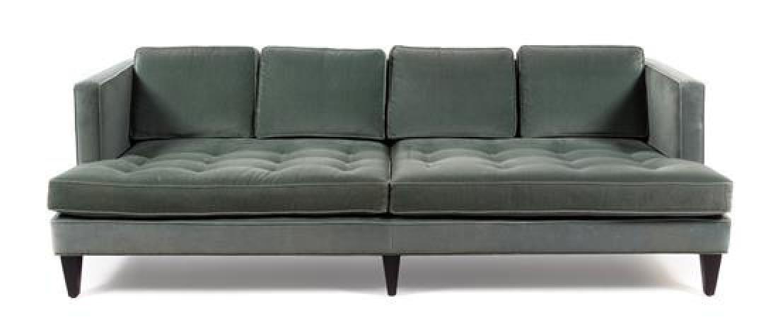 A Velvet Upholstered Sofa, Room & Board