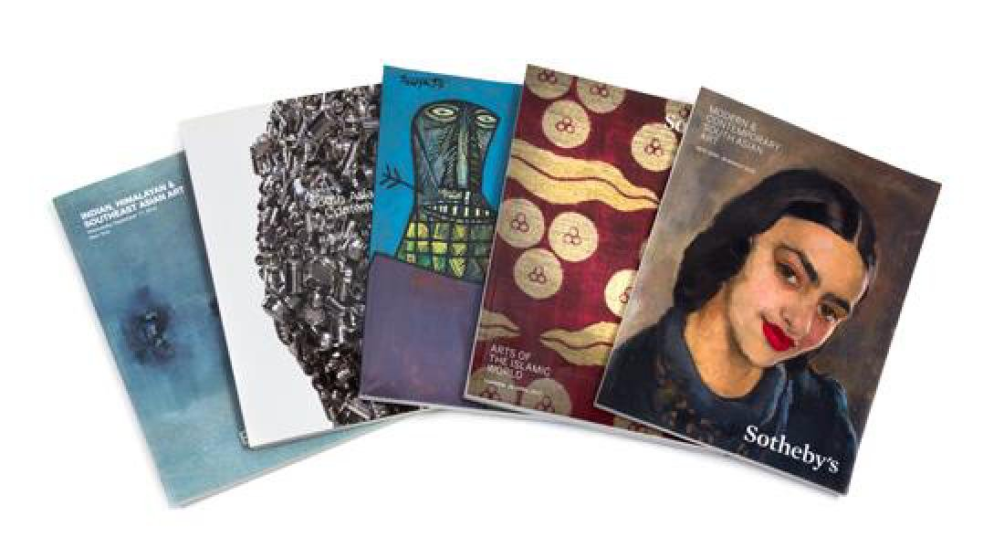 Thirty-Two Auction Catalogues Pertaining to Sales of