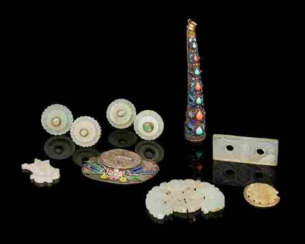 Ten Chinese Jewelry Articles Length of largest 3 3/4