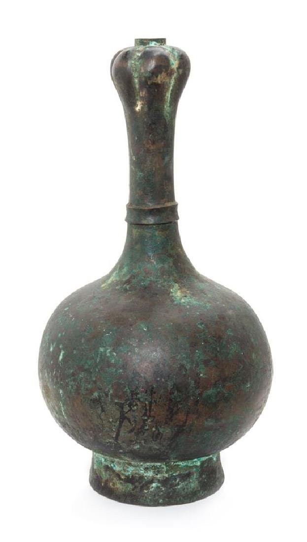 * A Chinese Bronze Garlic-Head Vase Height 15 1/4