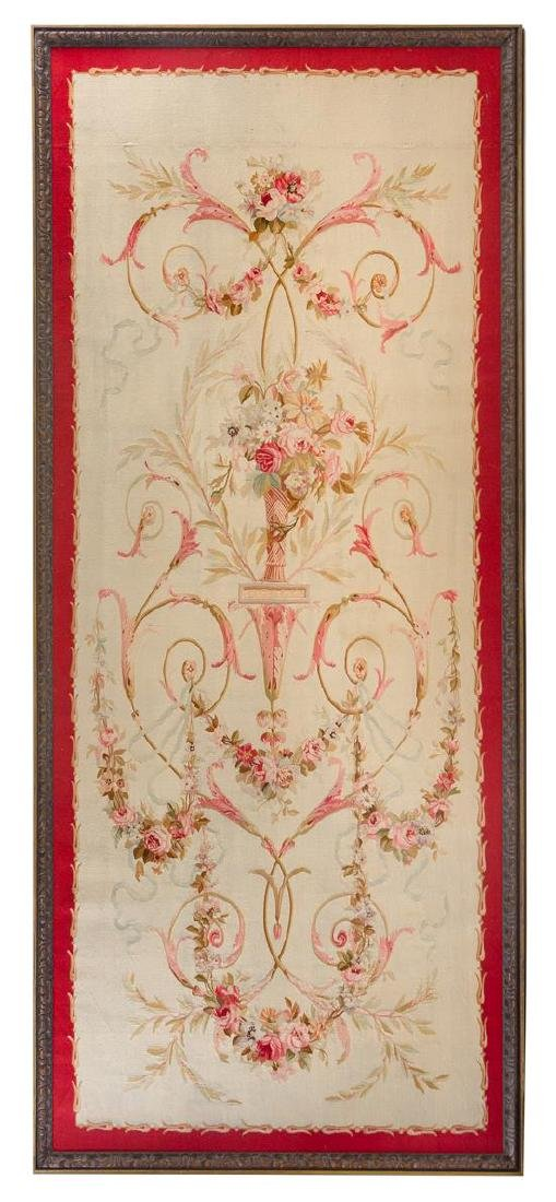 * An Aubusson Wool Tapestry 9 feet x 3 feet 10 inches.