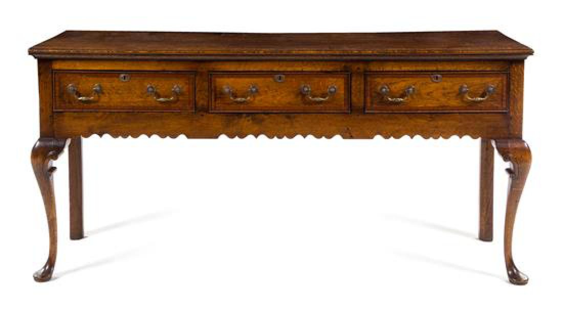 An English Oak Sideboard or Dresser Base Height 34 x