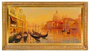 * Alan Wolton, (American, b. 1934), Venetian Canal