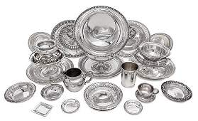 A Collection of American Silver Table Articles Various