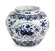 A Chinese Blue and White Porcelain Vase Height 11 1/4