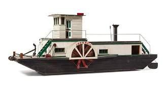 """* A Model of the """"John Bull"""" River Boat Height of model"""