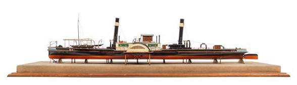 * A Model of the Side Wheel Tug Munchen Height of model