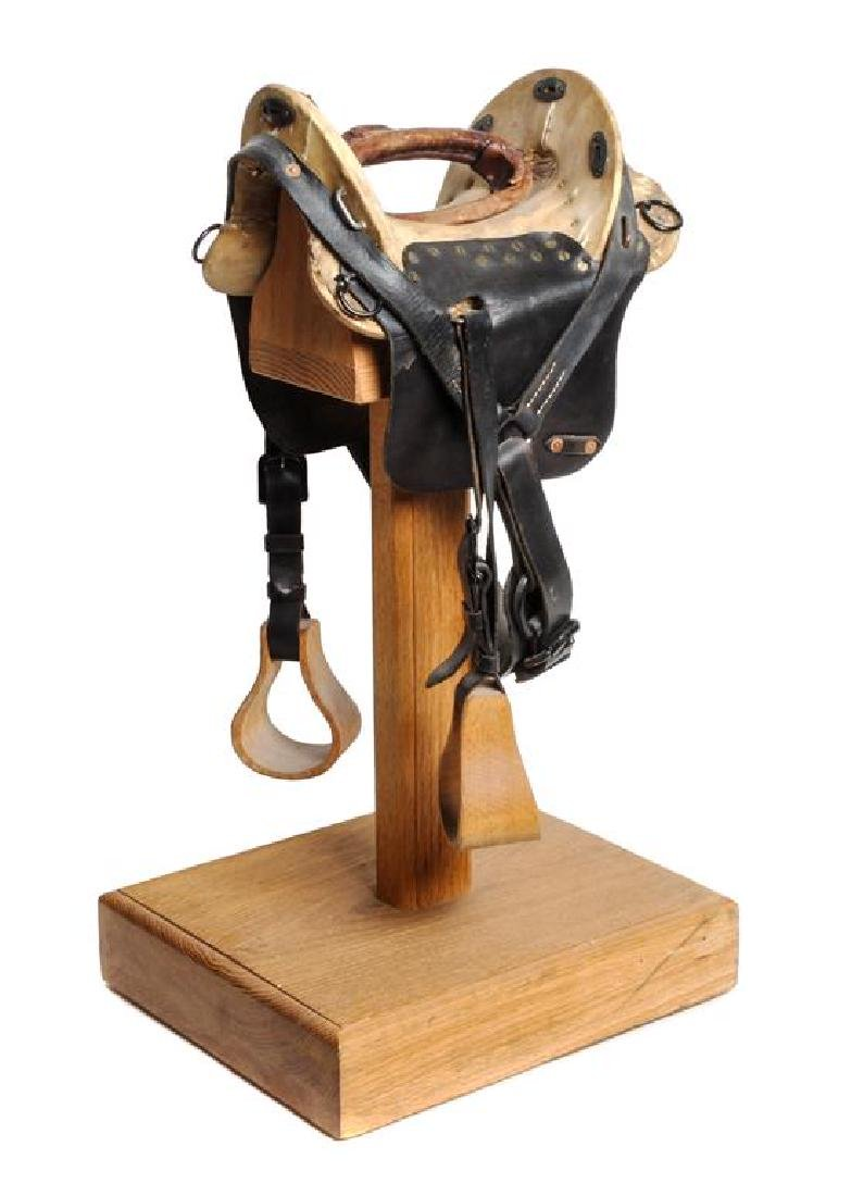 Miniature Western Rawhide and Leather Saddle Height