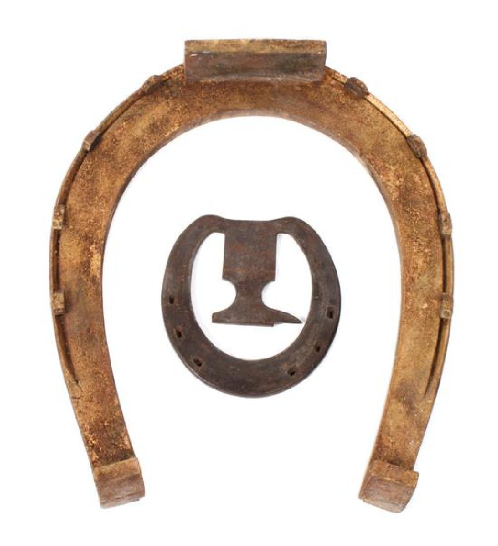 Two Decorative Horseshoes Height of larger 14 1/2 x