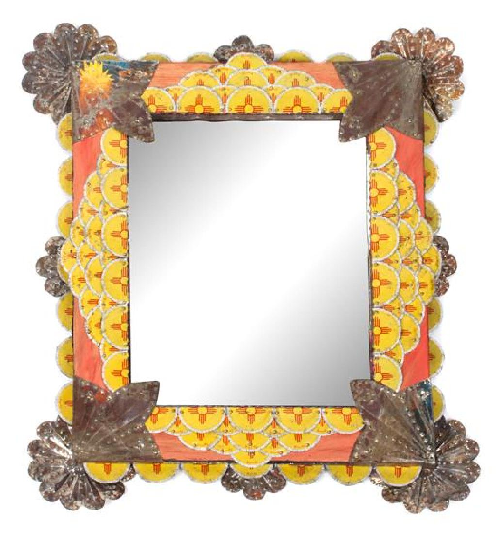 Two Southwest Style Mirrors Larger: 16 x 14 inches - 2