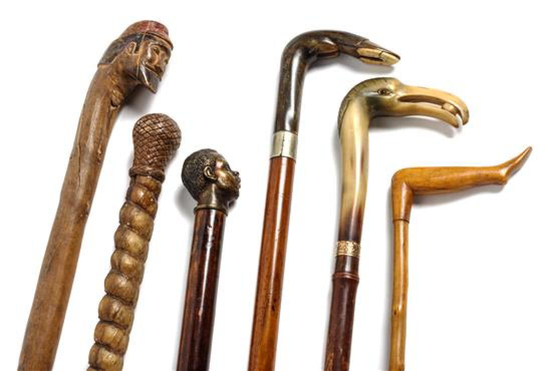 Collection of Six Canes Height of tallest 38 inches - 2
