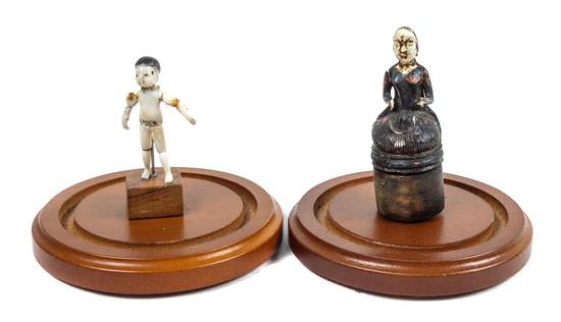 Two Continental Chess Pieces Height of each case 4 3/4 - 2
