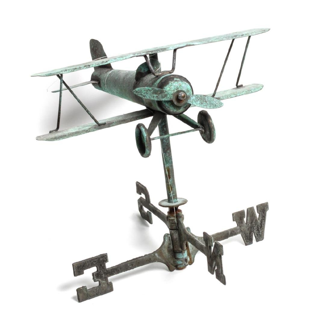 American Airplane Weathervane Height 12 x width 12 1/2