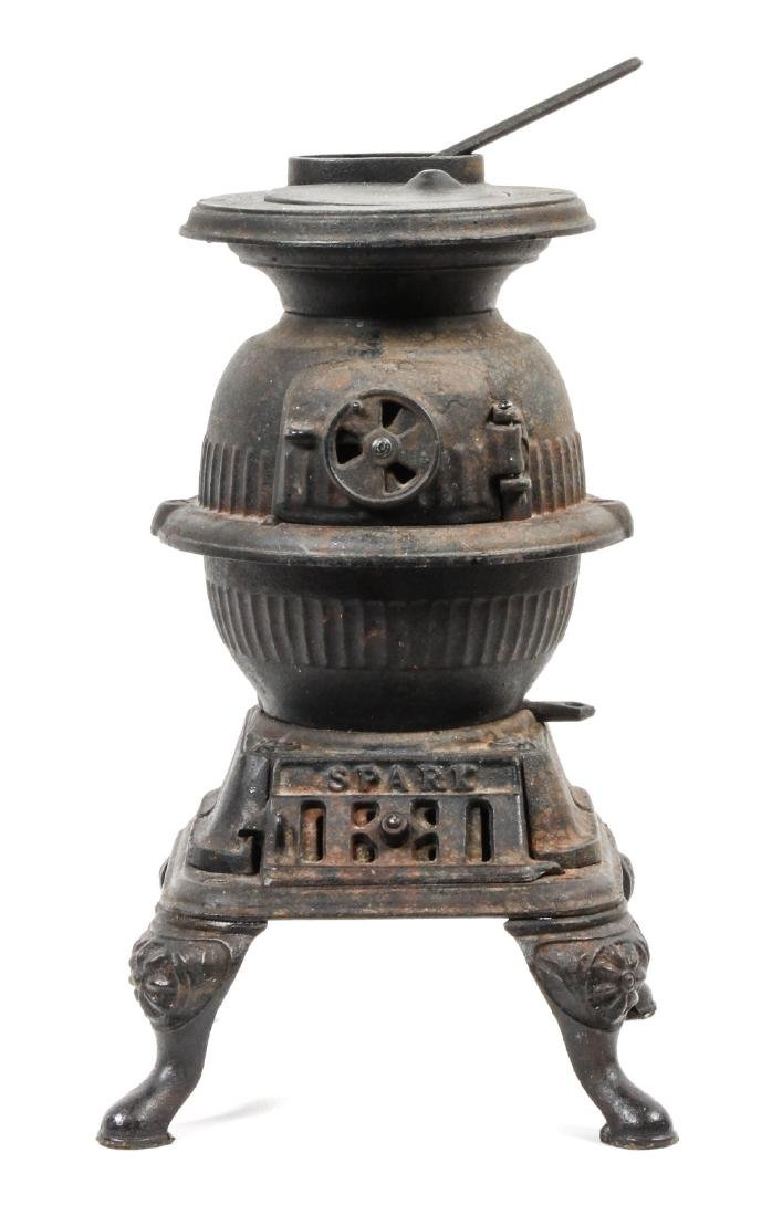 Miniature Cast Iron Stove Height 13 1/2 inches
