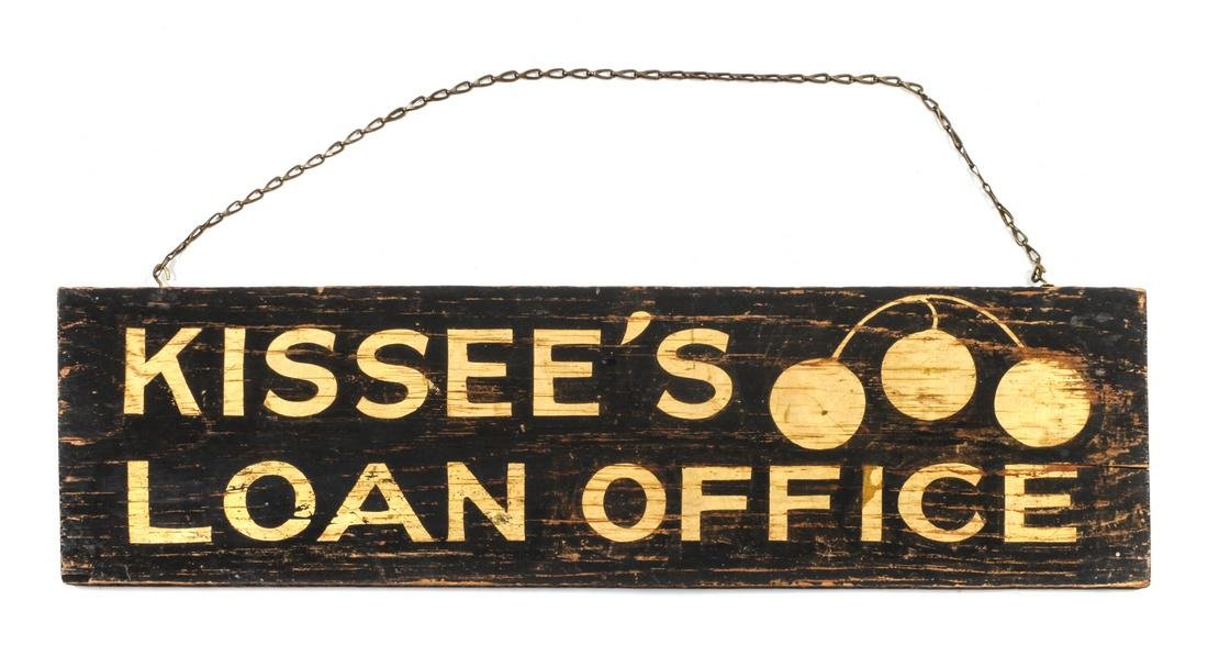 Loan Office Trade Sign Height 7 1/2 x width 27 inches
