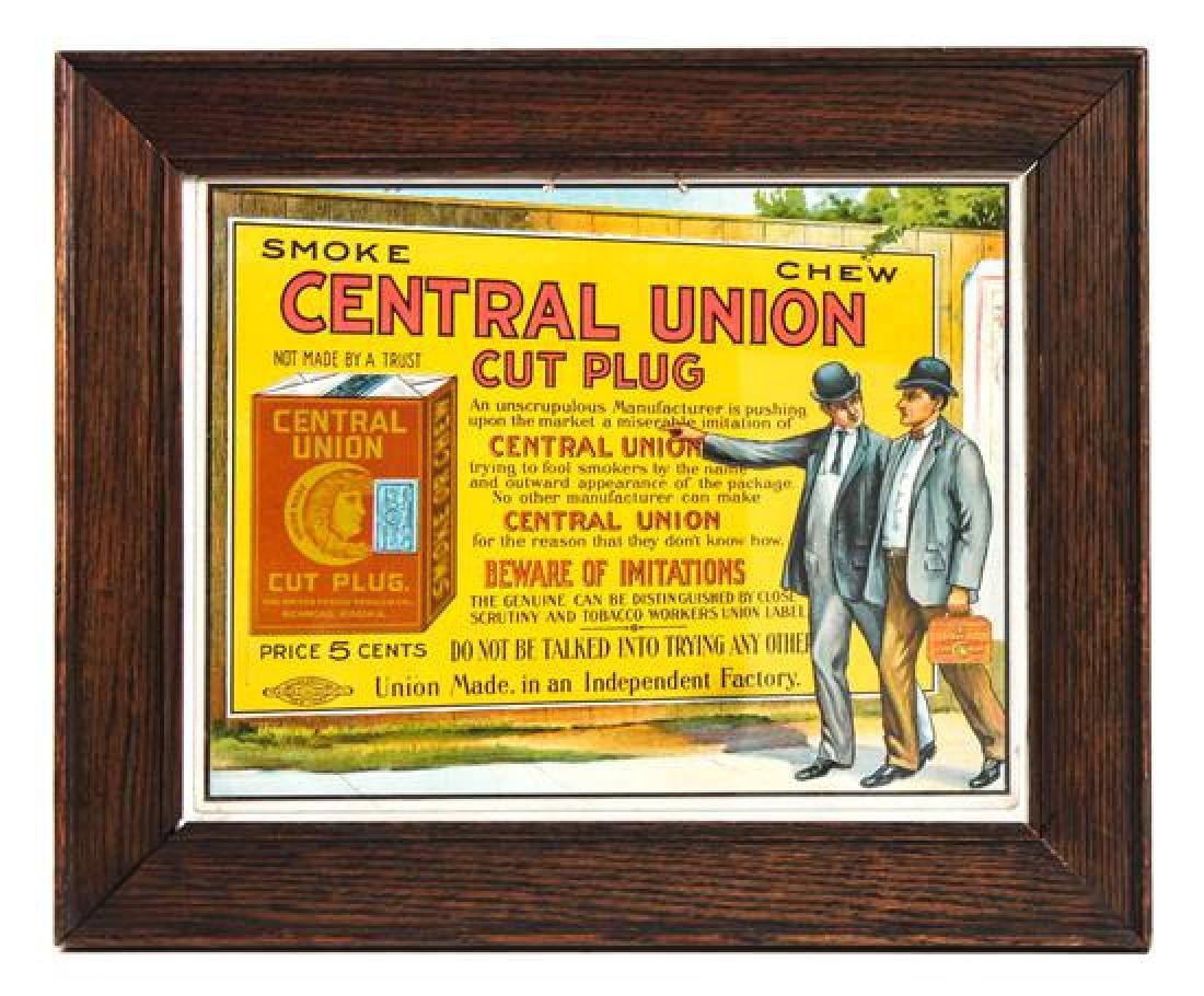 Vintage Advertisement Sign Framed: 14 5/8 x 17 7/8